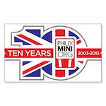 PhillyMINI 10th Anniversary Sticker (Rectangle)