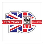 PhillyMINI 10th Anniversary Square Car Magnet 3