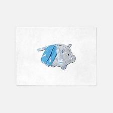 Letterman Jacket Piggy Bank 5'x7'Area Rug