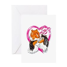 Collie Love Valentine Card