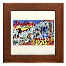 Galveston Texas Greetings Framed Tile