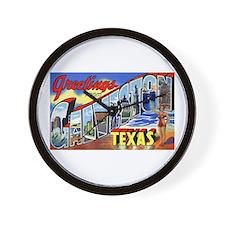 Galveston Texas Greetings Wall Clock