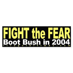 Fight the Fear Bumper Bumper Sticker