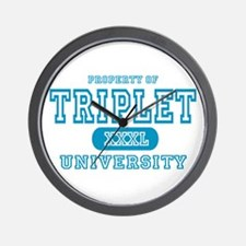 Triplet University Wall Clock