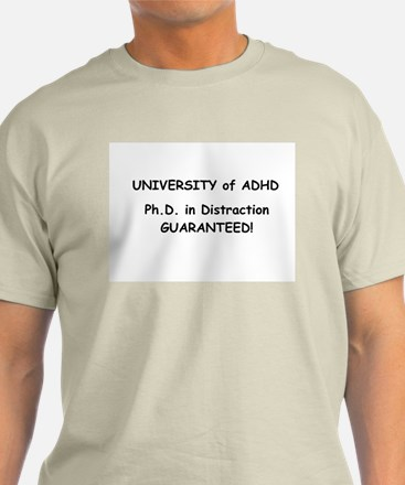 University of ADHD Ash Grey T-Shirt