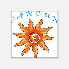 """Cancun Square Sticker 3"""" x 3"""""""