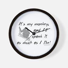 My Monkey. Wall Clock