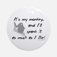 My Monkey. Ornament (Round)