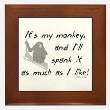 My Monkey. Framed Tile