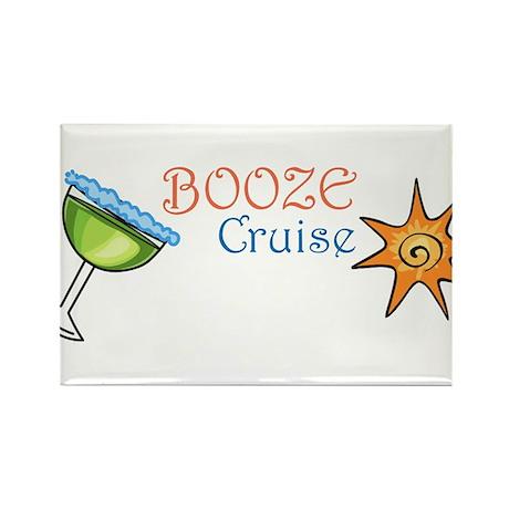 Booze Cruise Rectangle Magnet