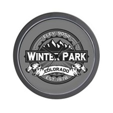 Winter Park Grey Wall Clock