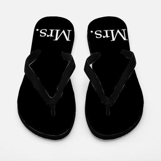 Black mr and mrs flip flops - for her