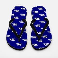 Blue Mr and Mrs flip flops - for him