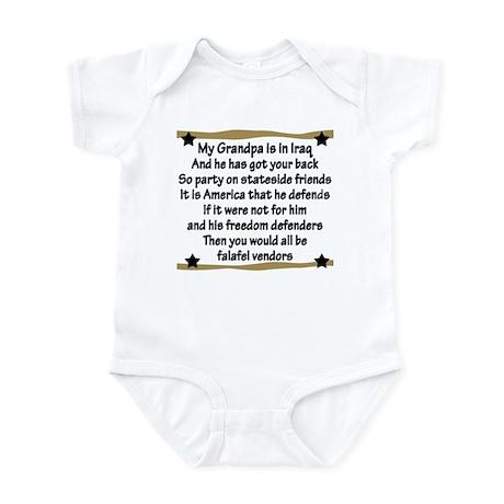 Grandpa has your back! Military Infant Bodysuit