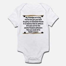 Grandpa has your back! Military Infant Bodysuit