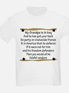 Grandpa has your back! Military Kids T-Shirt