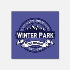 "Winter Park Midnight Square Sticker 3"" x 3"""