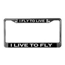 I FLy to Live License Plate Frame