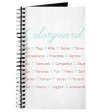 Colorguard Mint and Coral Journal