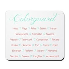 Colorguard Mint and Coral Mousepad
