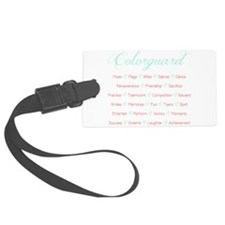 Colorguard Mint and Coral Luggage Tag