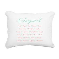 Colorguard Mint and Coral Rectangular Canvas Pillo
