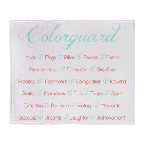 Colorguard Mint and Coral Throw Blanket