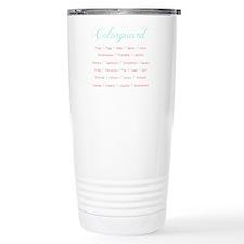 Colorguard Mint and Coral Travel Mug