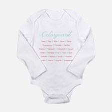 Colorguard Mint and Coral Long Sleeve Infant Bodys