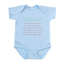 Colorguard Mint and Coral Infant Bodysuit