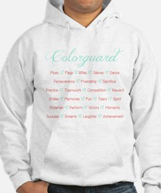 Colorguard Mint and Coral Hoodie