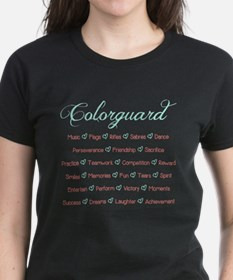 Colorguard Mint and Coral Tee