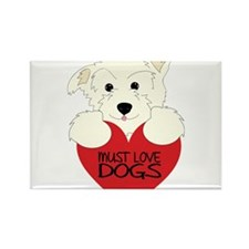 Must Love Dogs Rectangle Magnet