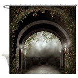 Gothic arch Shower Curtains