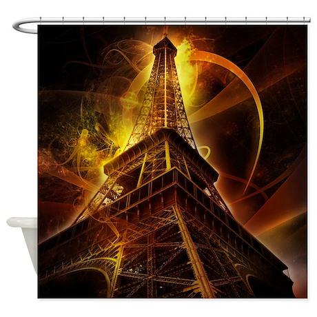 Eiffel tower fantasy shower curtain by showercurtainshop for Fantasy shower curtains