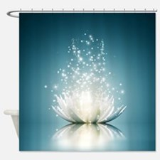 White Lotus Magic Shower Curtain
