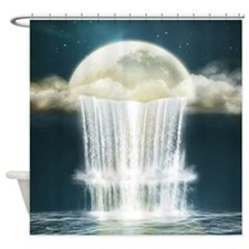 Magic Moon Waterfall Shower Curtain