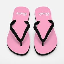 Bride and Groom flip flops - for her