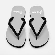 Bride and Groom flip flops - for him