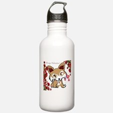 Be My Valentine Corgi Water Bottle