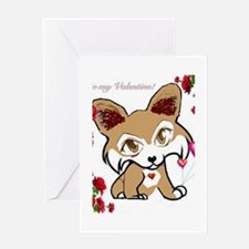 Be My Valentine Corgi Greeting Card