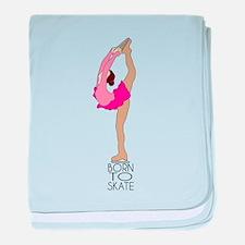 Born to Ice Skate baby blanket