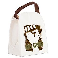NO GMO Fist Canvas Lunch Bag
