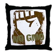 NO GMO Fist Throw Pillow