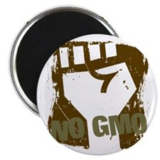 "NO GMO Fist 2.25"" Magnet (10 pack)"