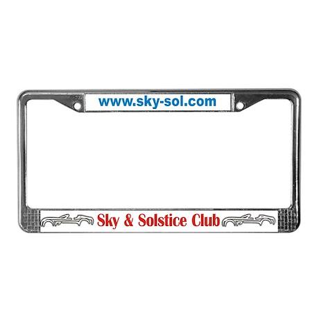 Sky & Solstice License Plate Frame