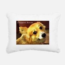 I Support Rescue Rectangular Canvas Pillow