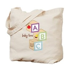 Baby Blocks Love Tote Bag
