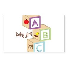 Baby Girl Blocks Decal