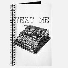 Text Me vintage typewriter Journal